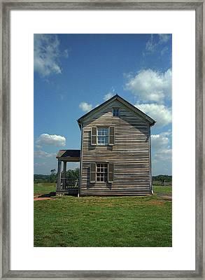 Framed Print featuring the photograph Manassas Battlefield Farmhouse by Frank Romeo