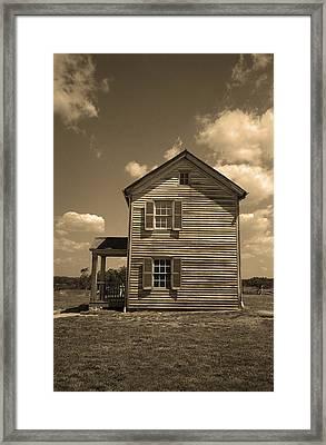 Manassas Battlefield Farmhouse Sepia Framed Print