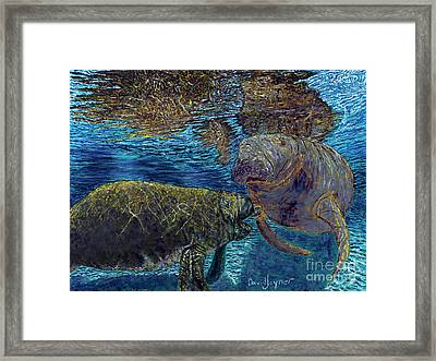 Manatee Motherhood Framed Print