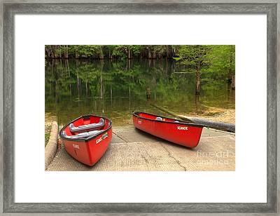 Manatee Springs Boat Launch Framed Print by Adam Jewell