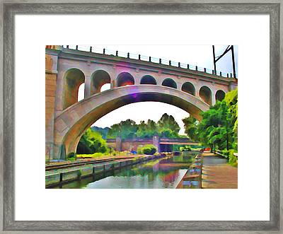 Manayunk Canal Framed Print by Bill Cannon