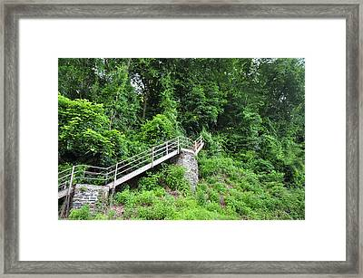 Manayunk - Steps From The Wissahickon Train Station Framed Print by Bill Cannon