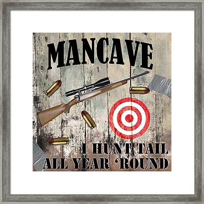 Mancave Hunt Tail Framed Print by Mindy Sommers