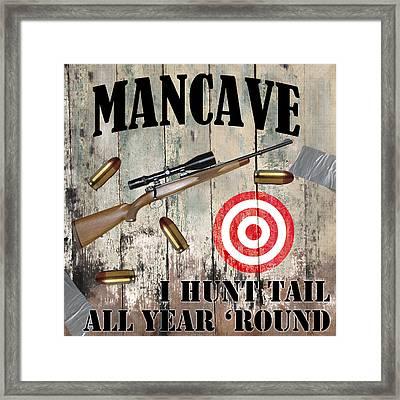 Mancave Hunt Tail Framed Print