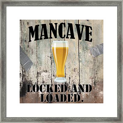 Mancave Locked And Loaded Framed Print by Mindy Sommers