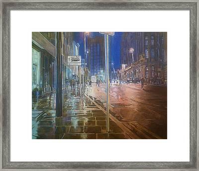 Manchester At Night Framed Print