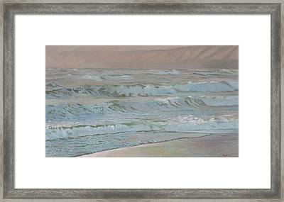 Manchester Beach Framed Print by Robert Bissett