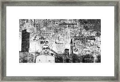 Manchester Graffito Framed Print by Andy  Mercer