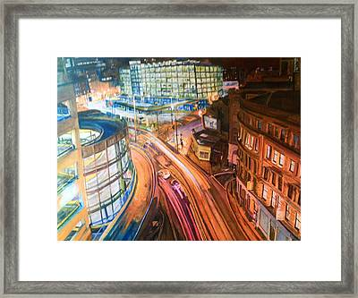 Manchester High Street Framed Print