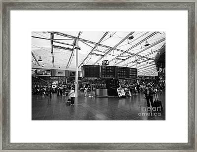 Manchester Piccadilly Railway Station England Uk Framed Print by Joe Fox