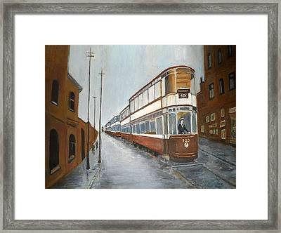 Manchester Piccadilly Tram Framed Print
