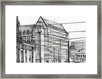 Manchester Town Hall Framed Print by Vincent Alexander Booth