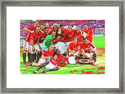 Manchester United Celebrates Framed Print
