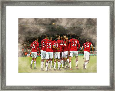 Manchester United  In Action  Framed Print