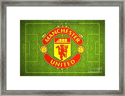 Manchester United Theater Of Dreams Large Canvas Art, Canvas Print, Large Art, Large Wall Decor Framed Print