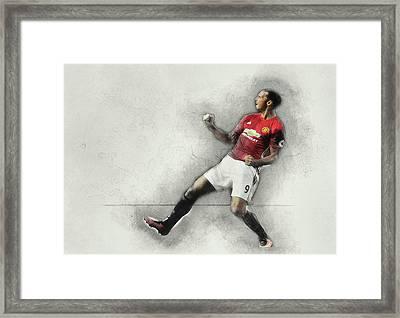 Manchester United's Zlatan Ibrahimovic Celebrates Framed Print