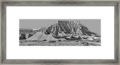 Mancos Shale - Geology - Utah - Black And White Framed Print