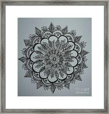 Mandal2 Framed Print by Usha Rai
