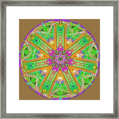 Framed Print featuring the painting Mandala 12 27 2015 Kings And Priests by Hidden Mountain
