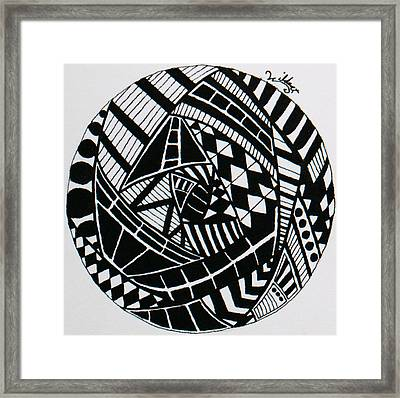 Mandala 2 Framed Print by Wattie Wildcat