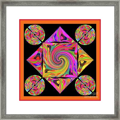 Mandala #50 Framed Print by Loko Suederdiek