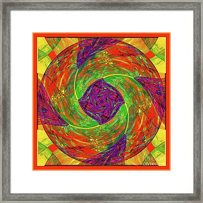 Mandala #55 Framed Print by Loko Suederdiek