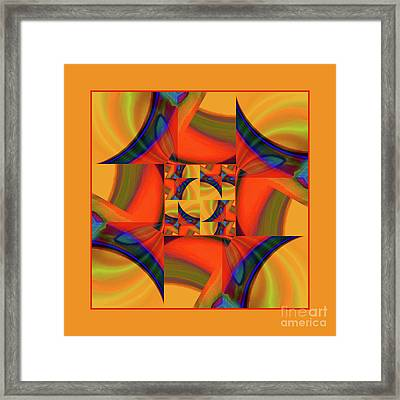 Mandala #56 Framed Print by Loko Suederdiek