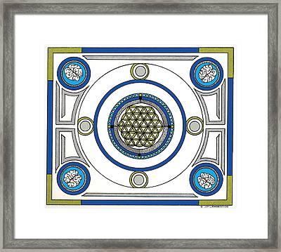Mandala Anese Framed Print by J P Lambert