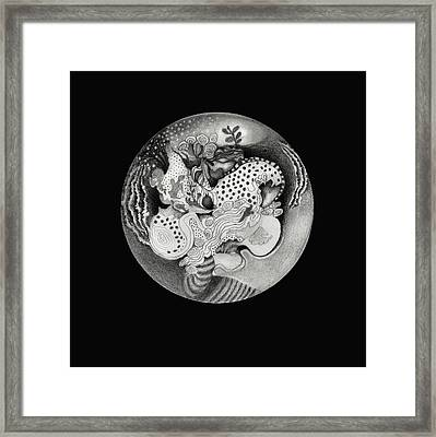 Mandala Framed Print by Ann Powell