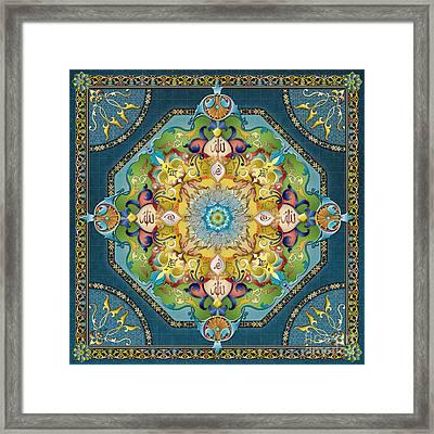 Mandala Arabesque Framed Print by Bedros Awak
