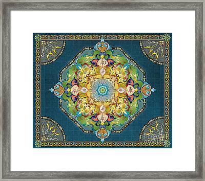 Mandala Arabesque Sp Framed Print by Bedros Awak