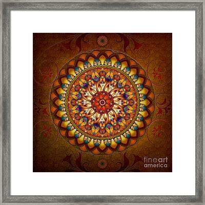Mandala Ararat Framed Print by Bedros Awak