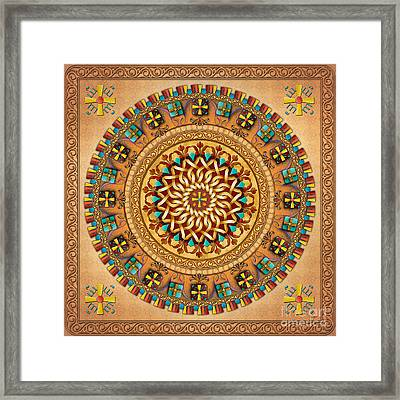 Mandala Armenia Iyp V2 Framed Print by Bedros Awak
