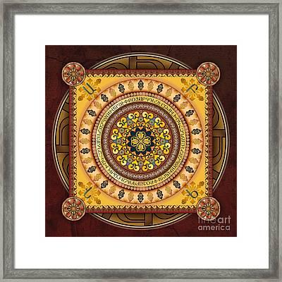 Mandala Armenia Iypenkimta Framed Print by Bedros Awak