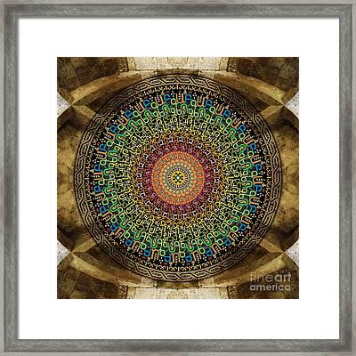 Mandala Armenian Alphabet Framed Print by Bedros Awak