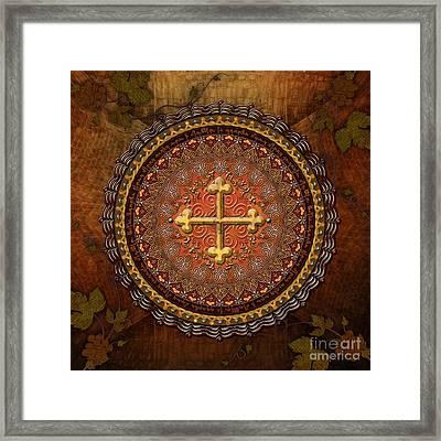 Mandala Armenian Cross Framed Print by Bedros Awak