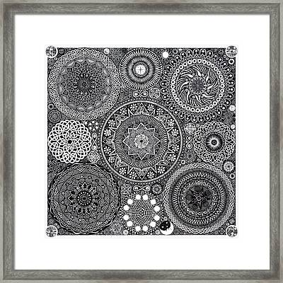 Mandala Bouquet Framed Print