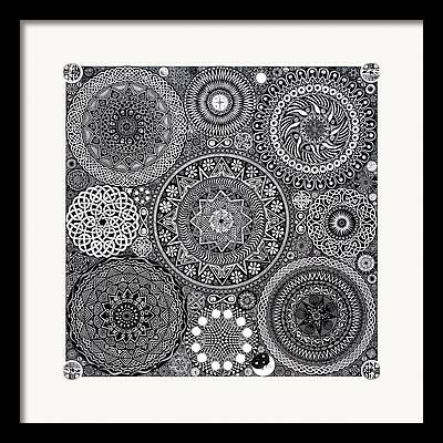 Coin Drawings Framed Prints