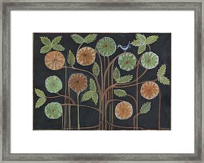 Breath, Body, Mandala Branches  Framed Print by Kim Alderman