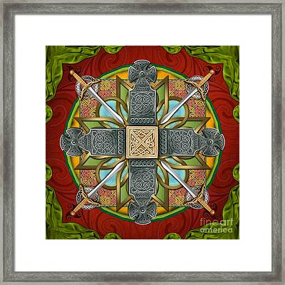 Mandala Celtic Glory Framed Print by Bedros Awak