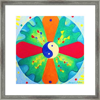 Framed Print featuring the painting Mandala by Denise Fulmer