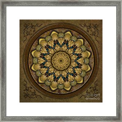 Mandala Earth Shell Framed Print
