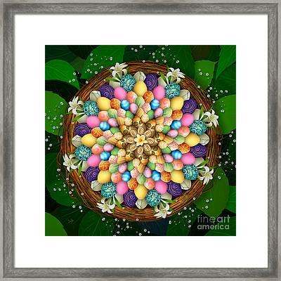 Mandala Easter Eggs Framed Print by Bedros Awak