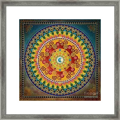 Mandala Epiphaneia Framed Print by Bedros Awak