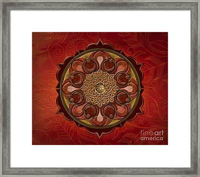 Mandala Flames Sp Framed Print