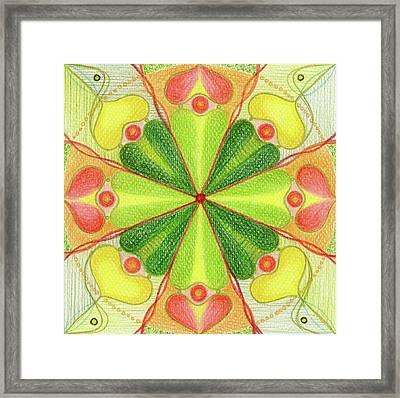 Mandala Fulfilment Framed Print by Karolina Cegielkowska