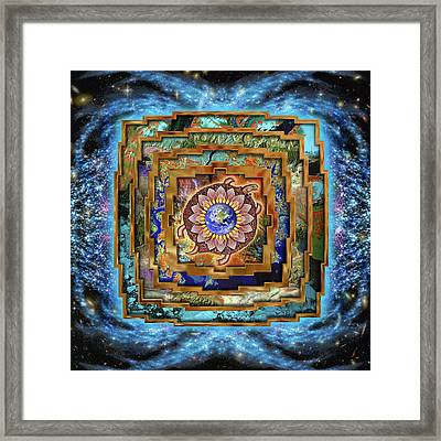 Mandala Gaia Framed Print by Mark Myers