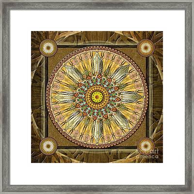 Mandala Illumination V1 Framed Print by Bedros Awak