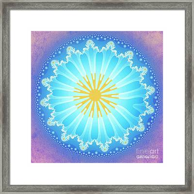 Framed Print featuring the digital art Mandala by Jutta Maria Pusl