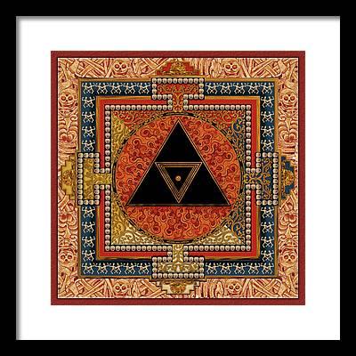 Kali Yantra Framed Prints